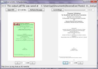 cut2col : 2-column pdf documents cutter and merger